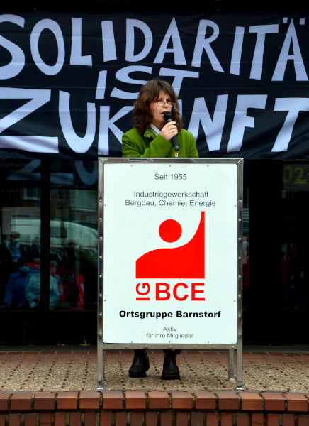Elke Oelmann am 1. Mai in Barnstorf